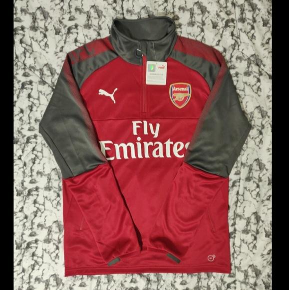 Arsenal Puma Mens Training Sweatshirt Blue 1//4 Zip Football Track Jacket 2017-18
